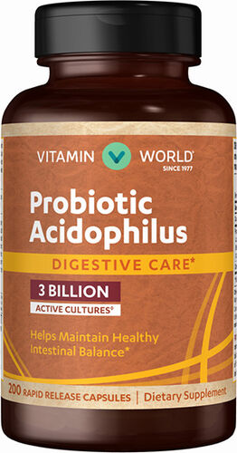 Vitamin World Probiotic Acidophilus 200 Capsules