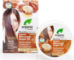 Organic Doctor Moroccan Argan Oil Restorative Treatment Conditioner 200 ml. Liquid Argan, Orange, Vanilla, Kigelia, Baobab, Roselle Flower extract