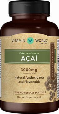 Vitamin World Acai 3000 mg. 120 Softgels