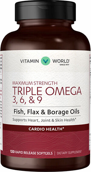 Vitamin World Maximum Strength Triple Omega 3-6-9