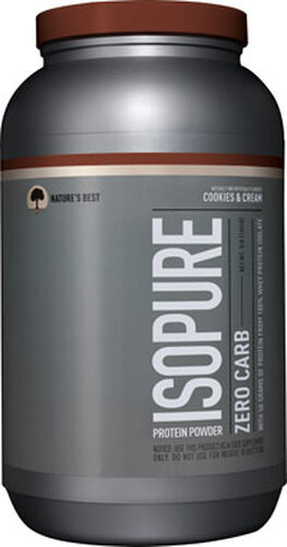 Nature's Best Isopure Zero Carb Whey Protein Isolate Cookies & Cream 3 lbs. 3 lbs. Powder