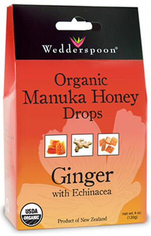 Organic Manuka Honey Drops Ginger, , hi-res