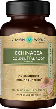 Vitamin World Echinacea with Goldenseal Root