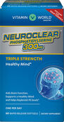 Vitamin World NeuroClear™ Phosphatidylserine 300 mg. 60 Softgels 300mg.