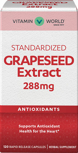 Vitamin World Grapeseed Extract 288 mg. 120 Capsules