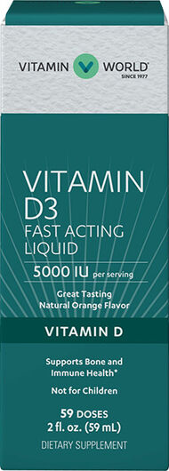 Vitamin World Liquid Vitamin D3 5000 IU 2 oz. Liquid