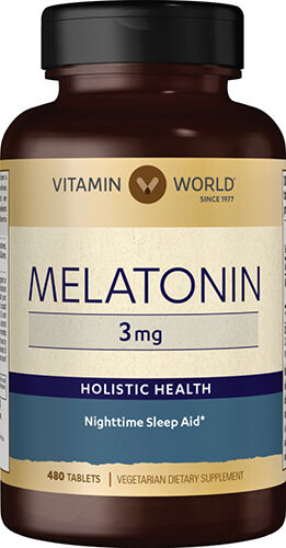 Vitamin World Melatonin 3 mg 480 Tablets 3mg.