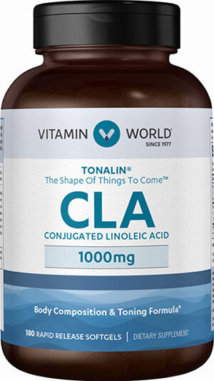 Vitamin World Tonalin® CLA 1,000mg 180 Softgels 1000mg.