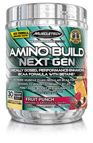 MuscleTech Amino Build® Next Gen Fruit Punch 10 oz. Powder
