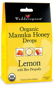 Organic Manuka Honey Drops Lemon, , hi-res