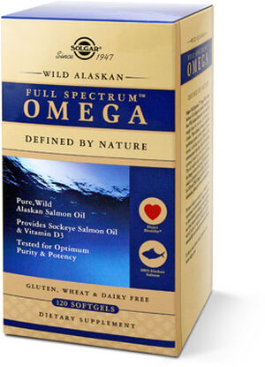 Solgar Wild Alaskan Salmon Oil Full Spectrum Omega 120 Softgels