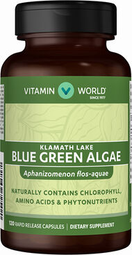 Vitamin World Blue Green Algae Klamath Lake 500 mg. 120 Capsules