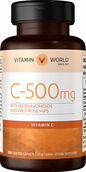 Vitamin World Vitamin C 500 mg. with Bioflavonoids and Wild Rose Hips 250 coated caplets