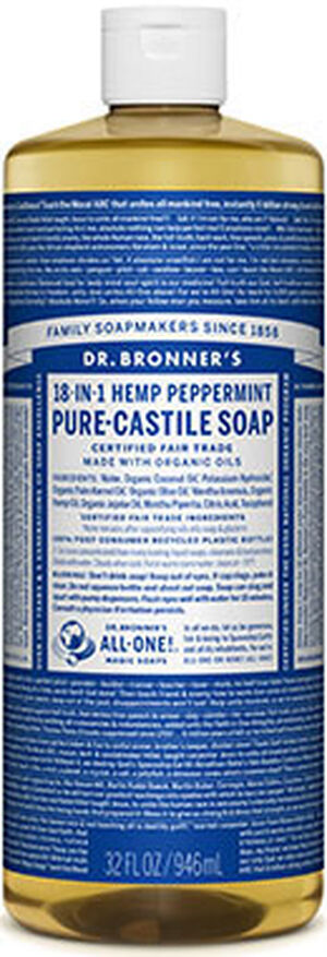 Dr. Bronner Dr. Bronner's Liquid Pure Castile Soap Peppermint 32 oz. 32 oz. Liquid