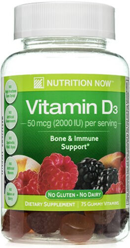 Nutrition Now Vitamin D3 50mcg (2000IU) Gummy Vitamins for Adults