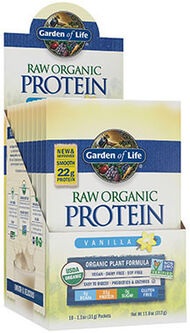 RAW Organic Protein Packets Vanilla, , hi-res