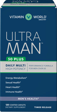 Vitamin World Ultra Man™ 50 Plus Daily Multivitamins 120 Caplets