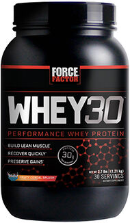 Force Factor Whey30® Performance Whey Protein 2.7 lbs. Fruity Cereal Splash 2.7 lbs. Powder