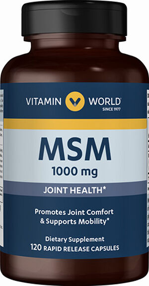 World MSM 1000 mg. 120 Capsules