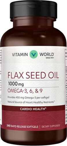 Vitamin World Flax Seed Oil 1,000mg 240 softgels