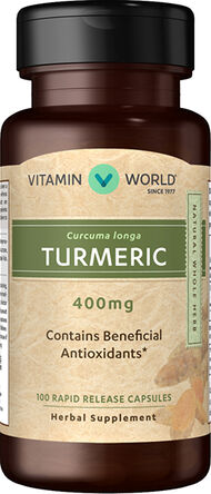 Vitamin World Turmeric Capsules 400 mg. 100 Capsules