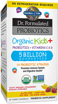 Dr. Formulated Probiotics Organic Kids+ Strawberry Banana