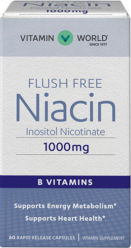 Vitamin World Niacin Flush Free 1000 mg. 60 Capsules