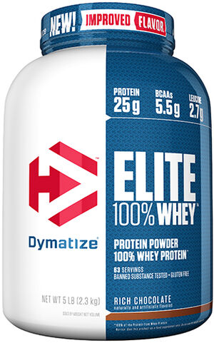 Dymatize Elite 100% Whey Protein 5 lbs. Rich Chocolate 5 lbs. Powder