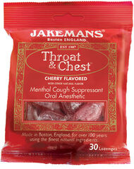 Jakemans® Confectioners Jakemans® Throat and Chest Lozenges Cherry 30 Lozenges