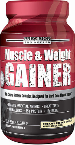 Precision Engineered® Muscle & Weight Gainer 3 lbs. Creamy French Vanilla 3 lbs. Powder