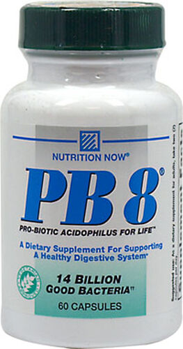 Nutrition Now PB-8® (Pro-Biotic Acidophilus) Vegetarian 60 Capsules
