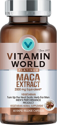 Vitamin World® Platinum Maca Extract 2000 mg. 60 capsules