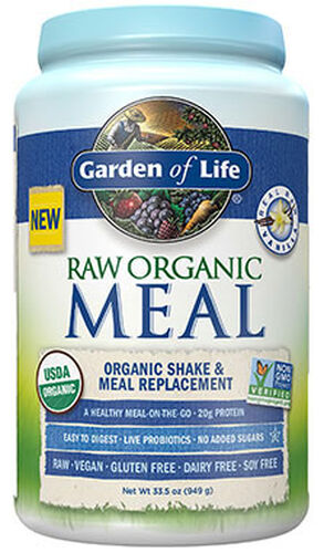 Garden Of Life RAW Organic Meal Vanilla 33.5 oz. 34 oz. Powder