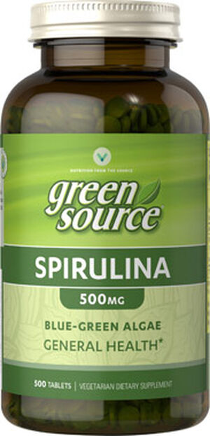 Vitamin World Spirulina Tablets 500mg 500 Tablets 500mg.