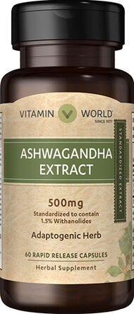 Vitamin World Ashwagandha 500 mg. 60 Capsules