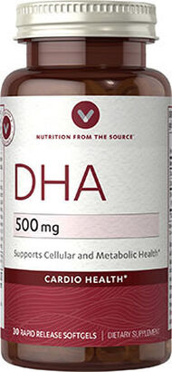 Vitamin World DHA 500mg 300 mg. 30 Softgels