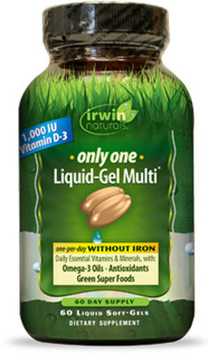Irwin Naturals Only One Multivitamins without Iron 1000 IU 60 Softgels