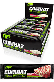 Combat Crunch™ Protein Bars White Chocolate Raspberry, , hi-res