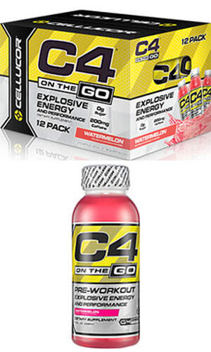 C4® On The Go Preworkout Energy Drinks Watermelon, , hi-res