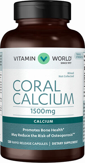 Vitamin World Coral Calcium 1500 mg. 120 Capsules 1500mg.