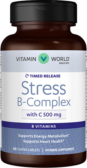 Stress B-Complex with 500 mg. Vitamin C Timed Release, 60, hi-res