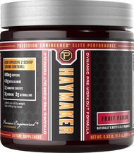 Precision Engineered® Elite Performance Haymaker Pre Workout Fruit Punch 8.5 oz. 8 oz. Powder