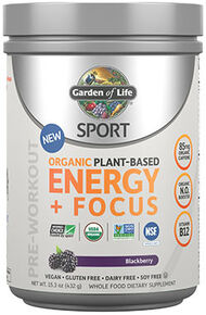 Sport Organic Plant-Based Energy + Focus Blackberry 15.3 oz., , hi-res