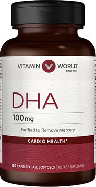 Vitamin World DHA 100 mg. 120 Softgels
