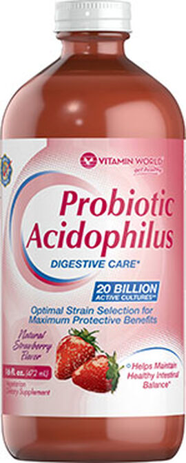 Probiotic Acidophilus Liquid Strawberry