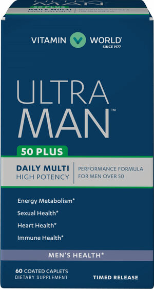 Vitamin World Ultra Man™ 50 Plus Daily Multivitamins 60 Caplets