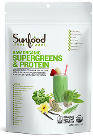 Raw Organic Supergreens & Protein, , hi-res