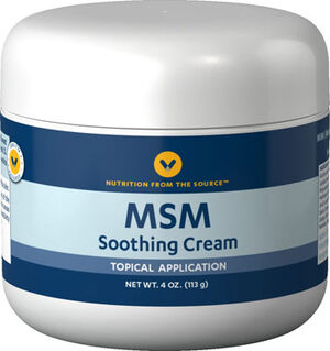 Vitamin World MSM Cream 4 oz. Cream