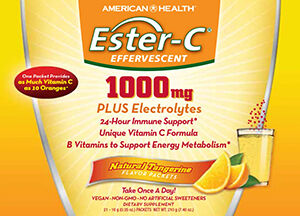 Ester-C® 1000 mg Effervescent Powder Packets Tangerine