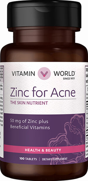 Zinc For Acne Zinc Supplement For Acne Treatment Vitamin World